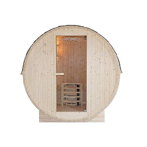 Home Deluxe - Outdoor Fasssauna 4 Personen - Lahti L mit...