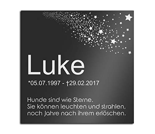 Grabstein Gedenkstein aus Hochglanz Acrylglas Grabplatte mit...