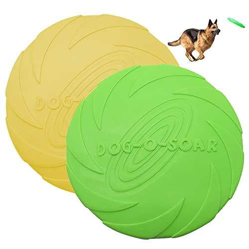 TUAKIMCE Hunde Frisbees,Hund Scheibe, 15cm 2 Stück...