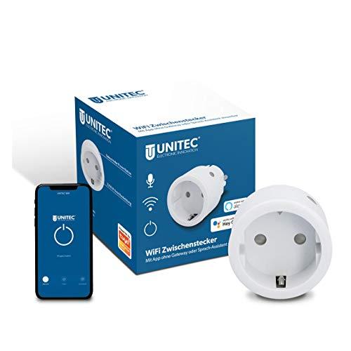 UNITEC WIFI Zwischenstecker | WLAN Smart Steckdose mit Timer und...