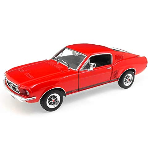 Ford Mustang GT, rot, 1967, Modellauto, Fertigmodell, Welly 1:24