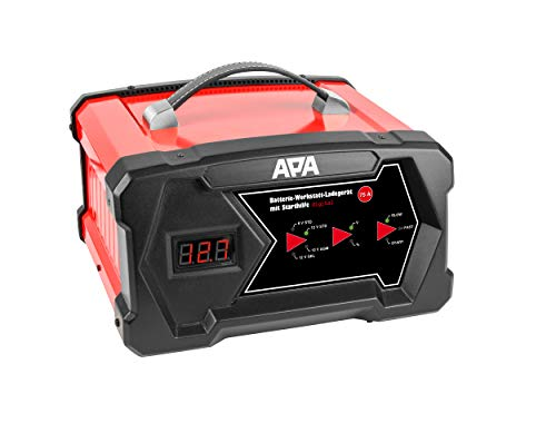 APA 16631 Werkstatt-Ladegerät mit Starthilfe, digital