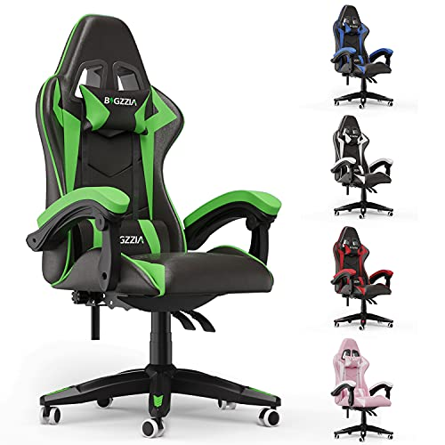 bigzzia Gaming Stuhl aus Kunstleder, Schreibtischstuhl mit...