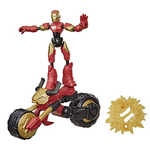 Hasbro F0244 Marvel Bend and Flex, Flex Rider Iron Man...