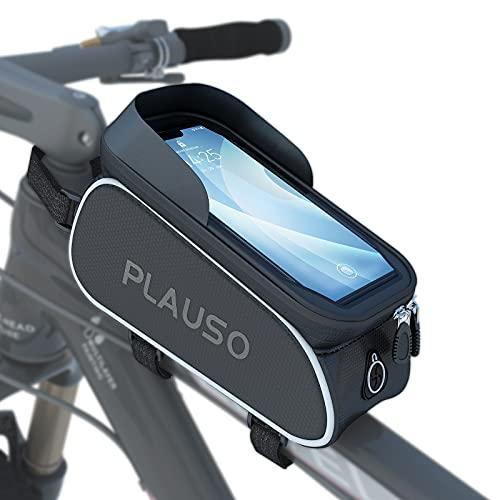 PLAUSO Fahrrad Rahmentasche wasserdichte Fahrradtasche...