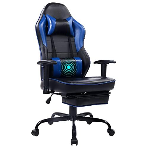 Wolmics Massage Gaming Stuhl Hohe Rückenlehne Racing PC Computer...
