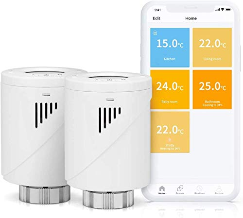 Smart Heizkörperthermostat, Meross WLAN Thermostat mit...