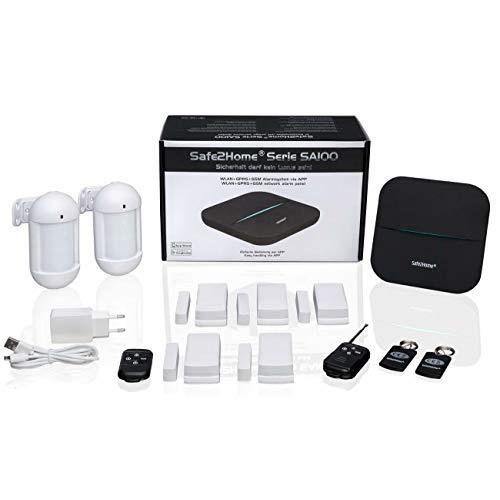 Safe2Home® Funk Alarmanlage Set SA100 mit Steuerung via APP -...