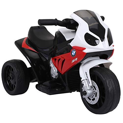 HOMCOM Elektro Kindermotorrad Kinderfahrzeug Elektro-Dreirad mit...
