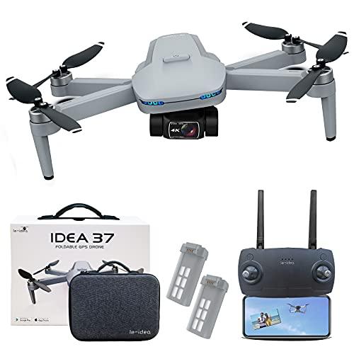 Drohne mit Kamera 4k EIS Brushless Motor und Gimbal, IDEA37 GPS...