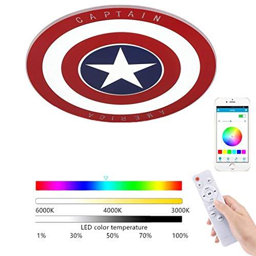 JIE LED Deckenleuchte, Captain America Rundes Lampe Deckenlampe...