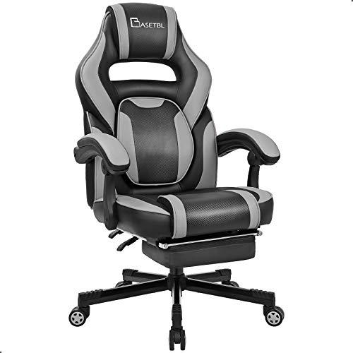 BASETBL Gaming Stuhl mit Fußstütze, verstellbare Taille,...