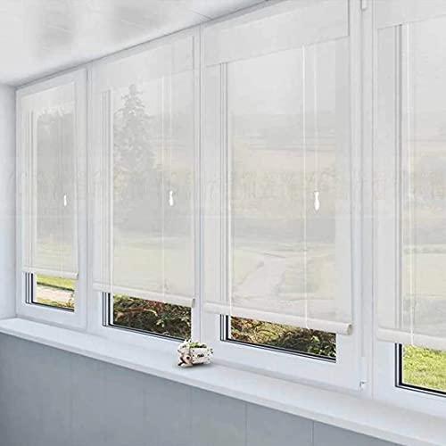 HAOQI Bambusrollo Sichtschutz Fenster Rollo Ohne Bohren -...