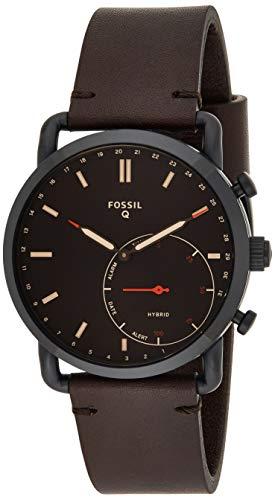 Fossil Herren Hybrid Smartwatch Commuter Leder Dunkelbraun...