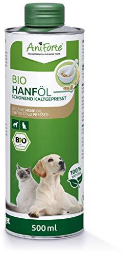 AniForte kaltgepresstes Bio Hanföl für Hunde & Katzen 500 ml -...
