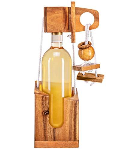 Zederello Flaschenpuzzle edlem Holz, Holz-Tresor,...