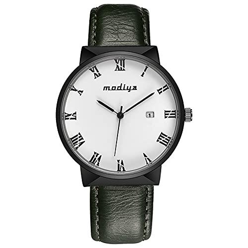Herren Armbanduhr Männer Analog Quarzuhr Uhr Retro Kunstleder...