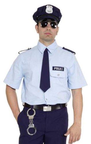 Orlob Polizei Hemd blau Herren Kostüm Polizist Karneval Fasching...