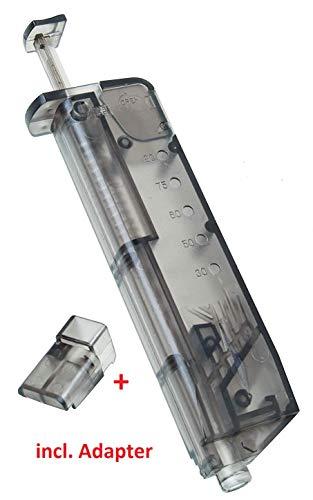 KOSxBO® Set Universal Speedloader 100 BB mit Pistolen Adapter für schnelles und sicheres...