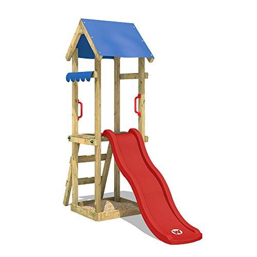 WICKEY Spielturm mit Rutsche TinySpot Kletterturm Klettergerüst...