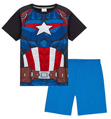Marvel Captain America Schlafanzug Jungen, Kurzer Kinder...