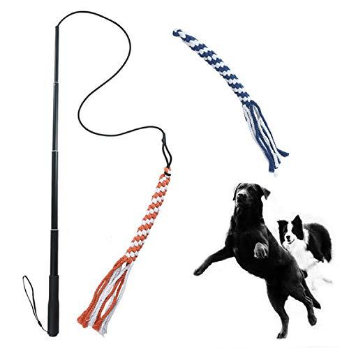 Alsanda Hundespielzeug ausziehbare Reizangel für kleine und...
