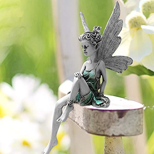 Elfen Figur Garten Feen und Elfen Figuren Deko, Sitzend Elfen...