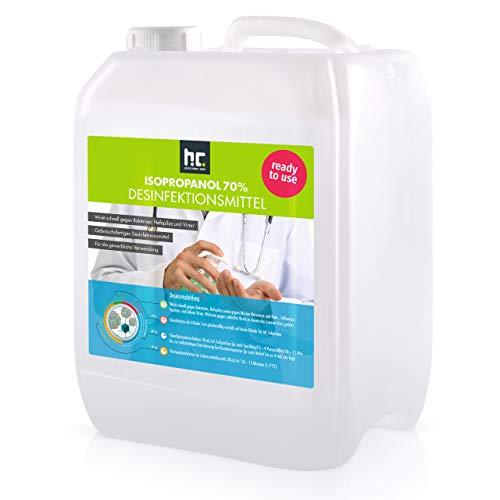 2 x 5 L (10 Liter) Zugelassenes Desinfektionsmittel für Hände & Flächen - anwendungsfertig -...