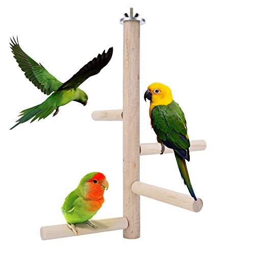 Filhome Vogelstange aus Holz, für Papageien, Wellensittiche,...