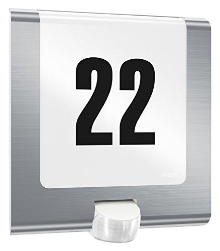 Steinel Außenleuchte L 220 LED Edelstahl, mit Hausnummer, 7.5 W,...