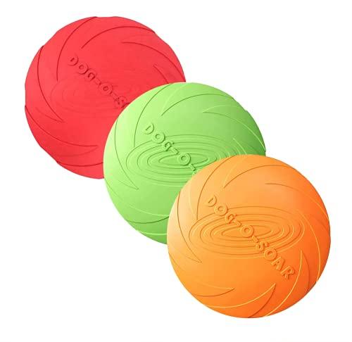 3 Stück Hund Frisbees, Haustier fliegenden Untertasse, Gummi...