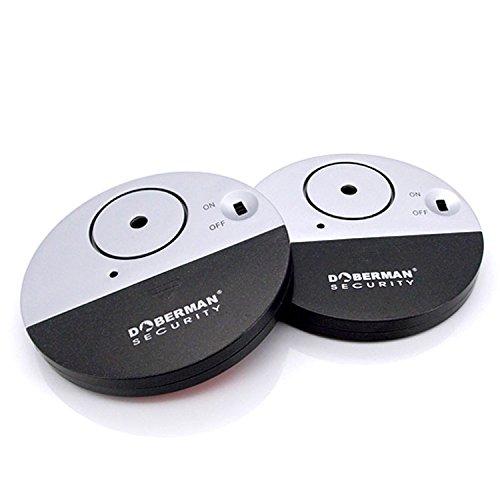 [2 Stück]WER Ultra-Dünner Fensteralarm mit lautem 100dB Alarm...