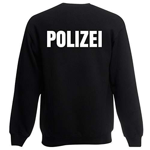 Shirt-Panda Herren Polizei Sweatshirt · Druck Brust & Rücken ·...