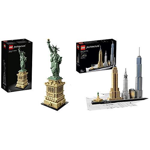 LEGO 21042 Architecture Freiheitsstatue, Mehrfarbig & 21028 Architecture - New York...