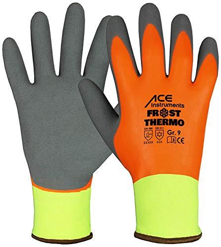 ACE 1 Paar Frost Thermo Winter-Arbeitshandschuhe - Kälte-Schutzhandschuhe - EN 388/420/511 -...
