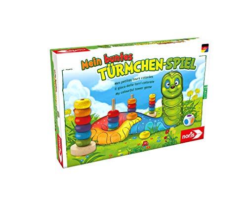 Noris 606011235 Mein buntes Türmchenspiel, Farb-Lernspiel aus...
