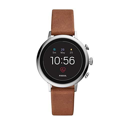 Fossil Damen Digital Smart Watch Armbanduhr mit Leder Armband...