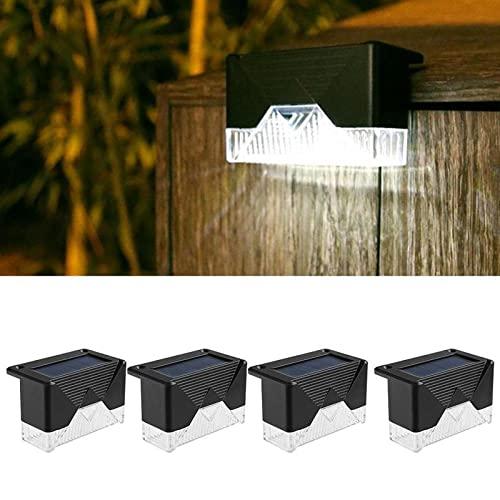 Weißes Licht 4 STÜCKE LED Solarlampe Weg Treppe Außenleuchten...