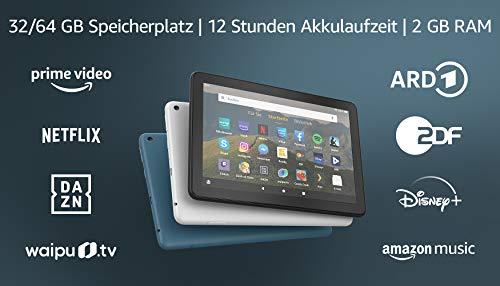 Fire HD 8-Tablet, 8-Zoll-HD-Display, 32 GB, Schwarz, Mit Werbung,...