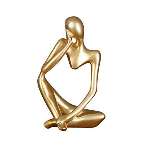 Abstrakt Statue Denker Resin Skulptur Figuren Modern Deko Für...