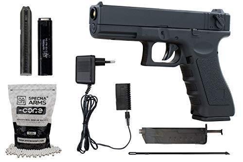 Softair G18 Pistole CYMA CM030 AEP Airsoft Set + 5000 hochwertige...
