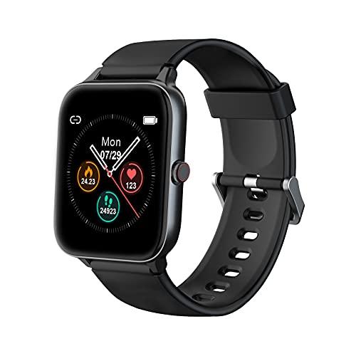 IOWODO Smartwatch, 1.5 Zoll Armbanduhr mit Schlafmonitor...