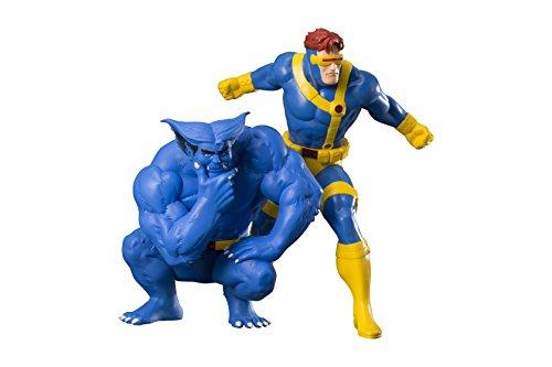 Kotobukiya - Marvel Universe X-Men Cyclops & Beast 2 Zahlen 1/10...