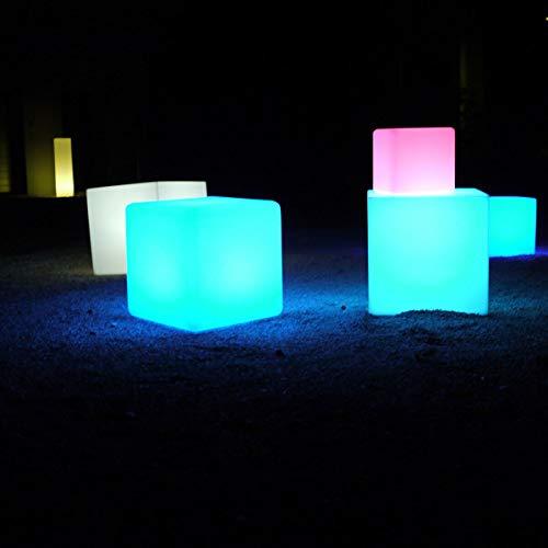 Leuchtender Würfel Cube LED Lichtwürfel Chill 25cm RGB Rot Blau...