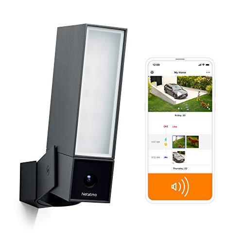 Netatmo Smart Outdoor Sicherheitskamera mit 105-dB Sirene, WiFi,...