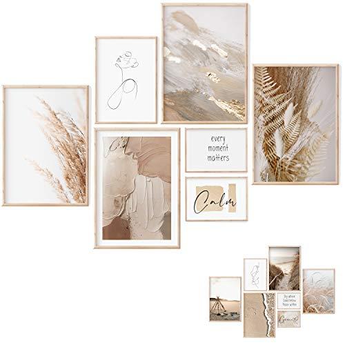 Premium Poster Set - 7 Beidseitige Bilder - Stilvolle Home Deko...