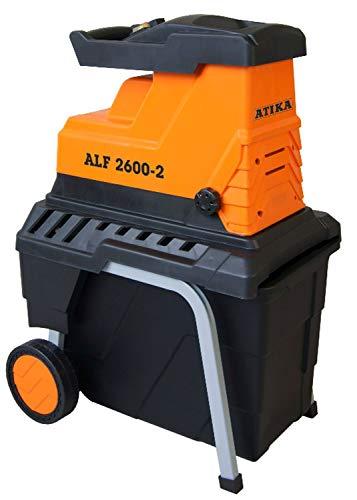 ATIKA ALF 2600-2 Leise-Walzenhäcksler Gartenhäcksler Schredder...
