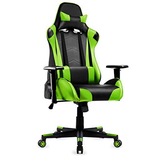 IntimaTe WM Heart Gaming Stuhl, Racing Stuhl mit Kopfstütze und Lordosenstütze, Ergonomischer...