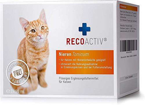 RECOACTIV Nieren Tonicum für Katzen, 3 x 90 ml,...