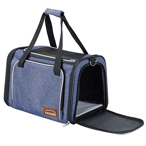ENSOBO Transporttasche Katze, Faltbare Hundetragetasche...